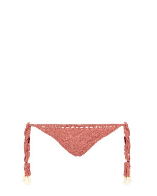 She Made Me - Red Laharia Tie-side Crochet Bikini Briefs - Lyst