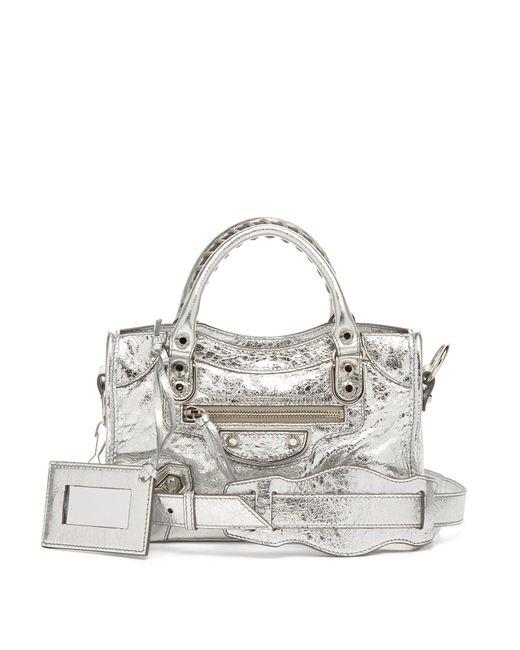 35086f5705ba Lyst - Balenciaga Classic City Mini Metallic Leather Bag in Metallic