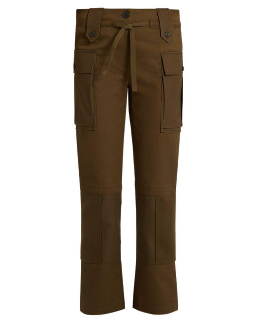 Alexander McQueen - Multicolor Patch-pocket Straight-leg Cotton-twill Trousers - Lyst