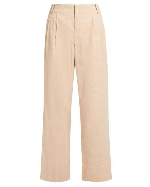 Isabel Marant | Pink Nyoka Wide-leg Linen-blend Trousers | Lyst