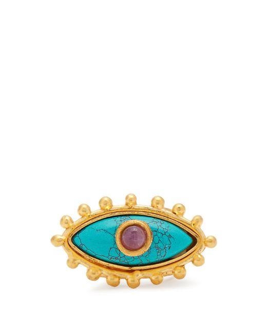 Sylvia Toledano - Purple Evil Eye Gold-plated Ring - Lyst