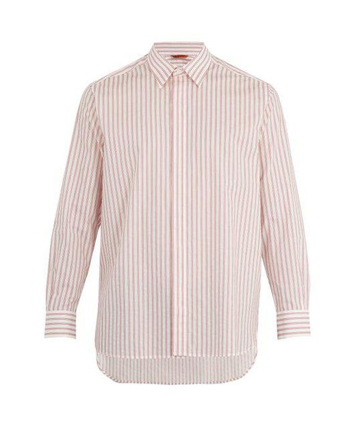 Barena - Multicolor Point-collar Striped Cotton Shirt for Men - Lyst