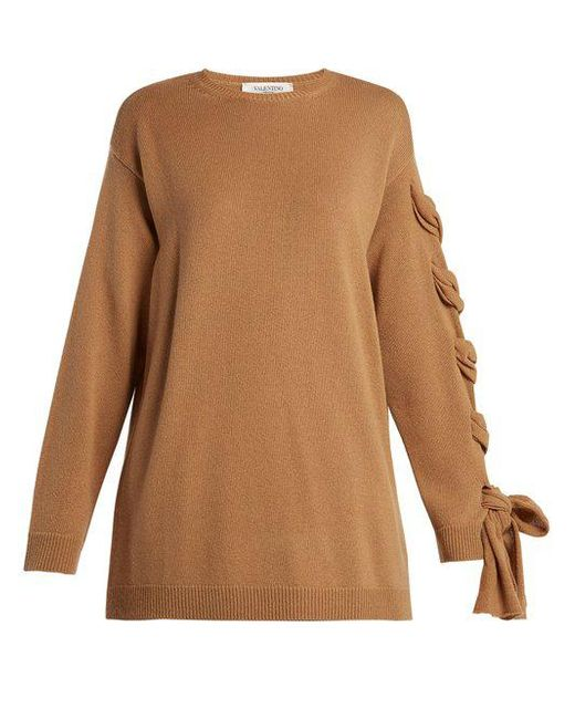Laced cashmere sweater Valentino With Mastercard Cheap Price Exclusive For Sale Very Cheap Cheap Browse Cheap Sale Many Kinds Of zgZIuZnVBj