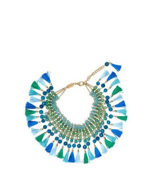 Rosantica By Michela Panero - Blue Geranio Multi-stone And Tassel Necklace - Lyst