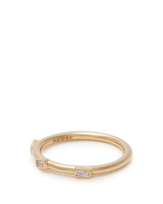 Ileana Makri - Metallic 18kt Gold And Baguette-diamond Ring - Lyst