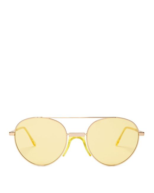 Andy Wolf - Metallic Aviator Sunglasses for Men - Lyst