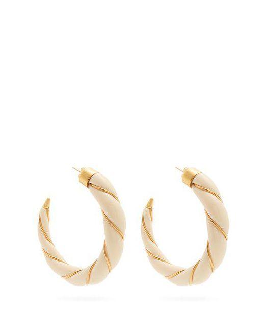 Aurelie Bidermann - Metallic Lace Diamond & Yellow-gold Earrings - Lyst