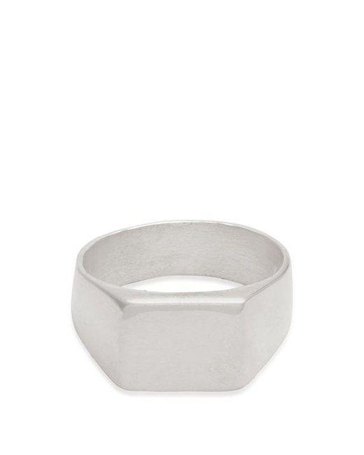 Aris Schwabe - Metallic Thick Platte Sterling Silver Ring for Men - Lyst