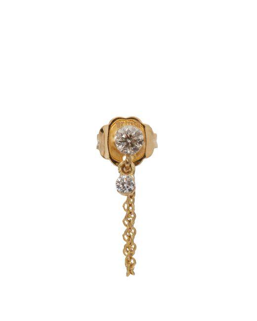 Maria Tash - Metallic Diamond & Yellow-gold Single Earring - Lyst
