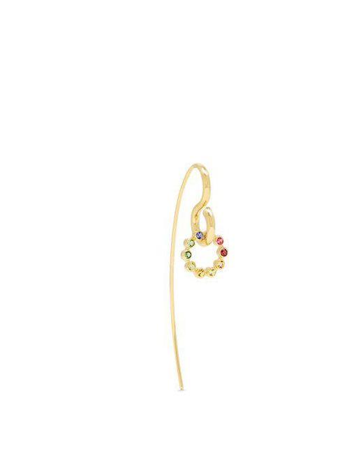 Charlotte Chesnais - Metallic Swing Hook Sapphire, Topaz & Gold Earring - Lyst