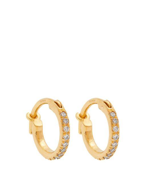 Ileana Makri - Metallic Diamond & Yellow-gold Earrings - Lyst