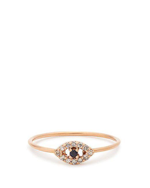 Ileana Makri - Metallic Diamond, Sapphire & Rose-gold Ring - Lyst