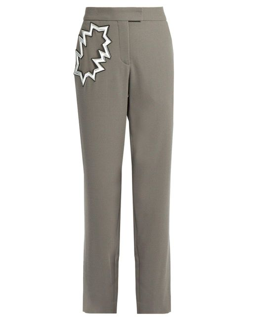 Christopher Kane - Gray Smash-pocket Wool-crepe Trousers - Lyst