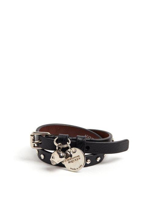 Alexander McQueen - Black Snake Cord Bracelet for Men - Lyst