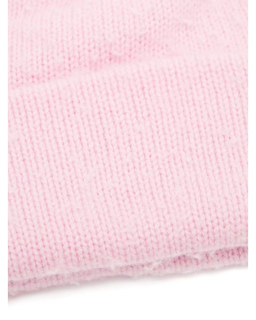 e01f2dab5f0 Acne Studios Pilled Wool Blend Beanie Hat in Pink for Men - Lyst