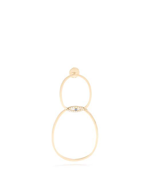 Delfina Delettrez | Metallic Diamond, Sapphire & Yellow-gold Single Earring | Lyst