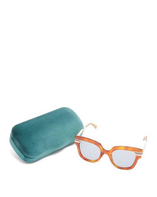 Web-striped cat-eye sunglasses Gucci L1xzY7j