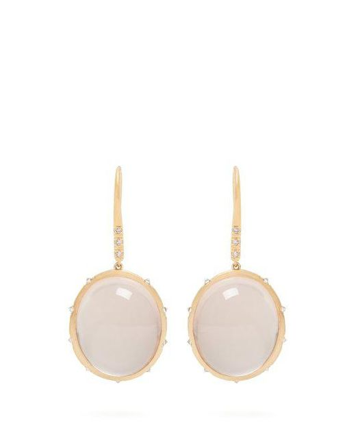 Susan Foster - Multicolor - Diamond & Yellow Gold Earrings - Womens - Gold - Lyst