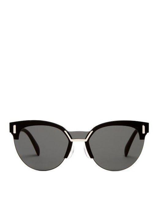 c345169c0516 purchase prada 55mm polarized cat eye sunglasses af386 b7e79; low cost prada  black round frame acetate sunglasses lyst 31eed d9f6f