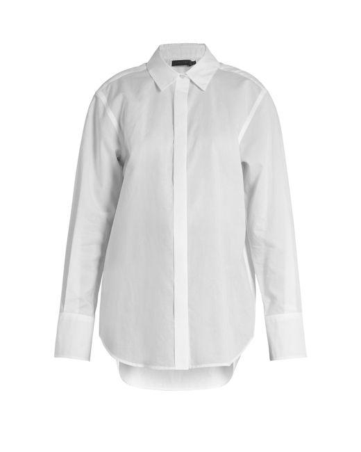 Calvin Klein   White Luka Point-collar Cotton Shirt   Lyst