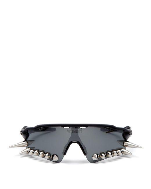 172a1c4eb12f Vetements - Black X Oakley Spikes 400 D Frame Acetate Sunglasses for Men -  Lyst ...