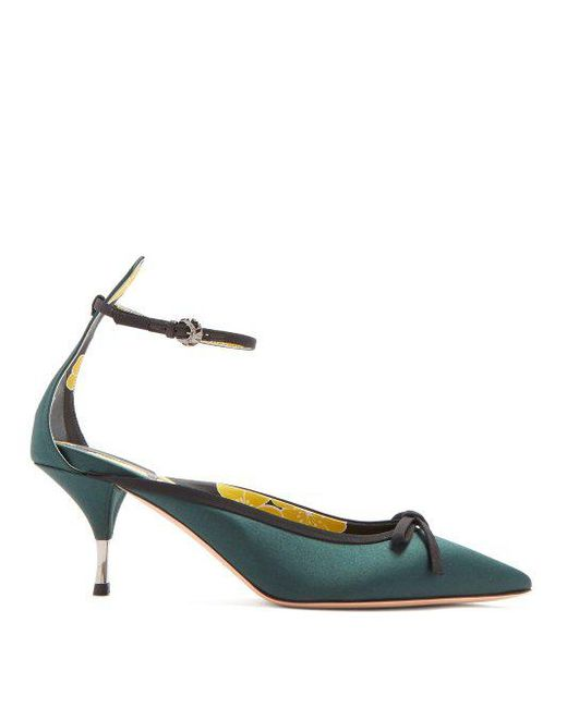 Discount Aaa Excellent Bow-embellished satin pumps Rochas fJZUcKgR
