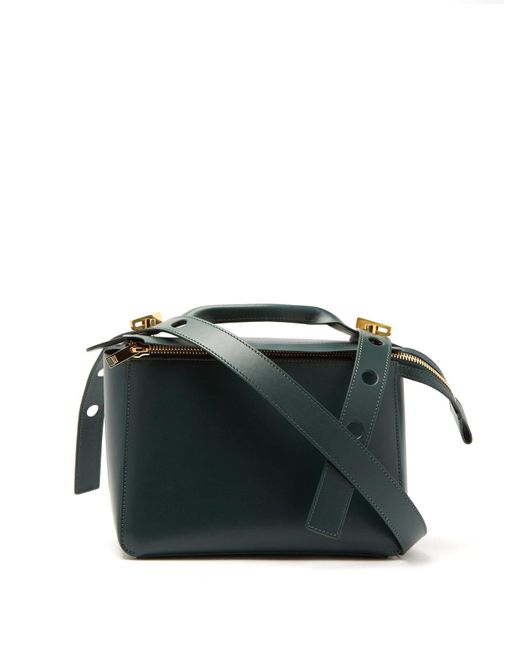 Sophie Hulme - Green Bolt Leather Shoulder Bag - Lyst