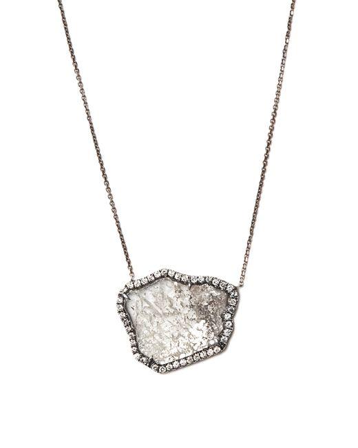 Susan Foster - Black Diamond Slice & White-gold Necklace - Lyst
