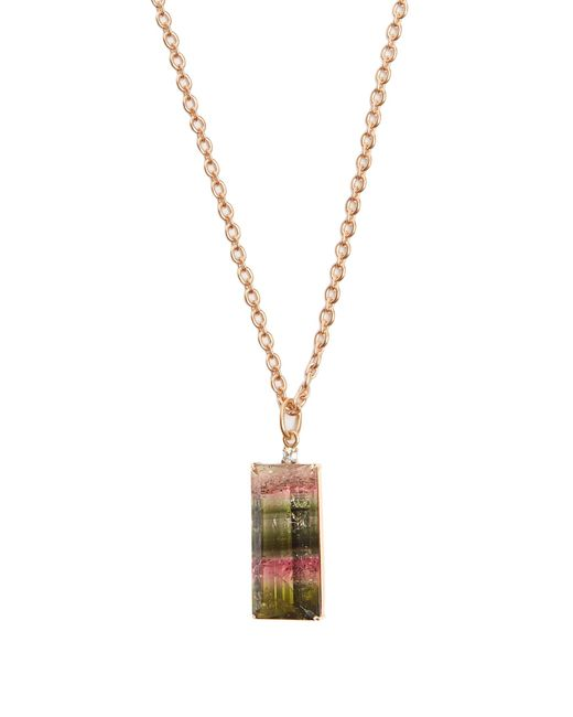 Irene Neuwirth - Metallic Diamond, Tourmaline & Rose-gold Necklace - Lyst