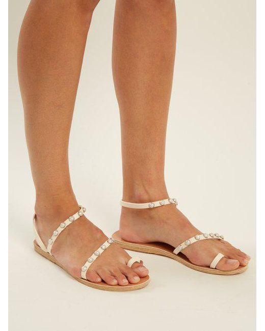 Apli Eleftheria Embellished Leather Sandals Ancient Greek Sandals 0CD2muFLMW