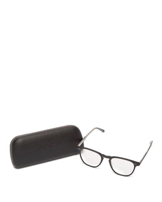 781d6575b20 ... Garrett Leight - Black Brooks 47 Square Frame Glasses for Men - Lyst ...