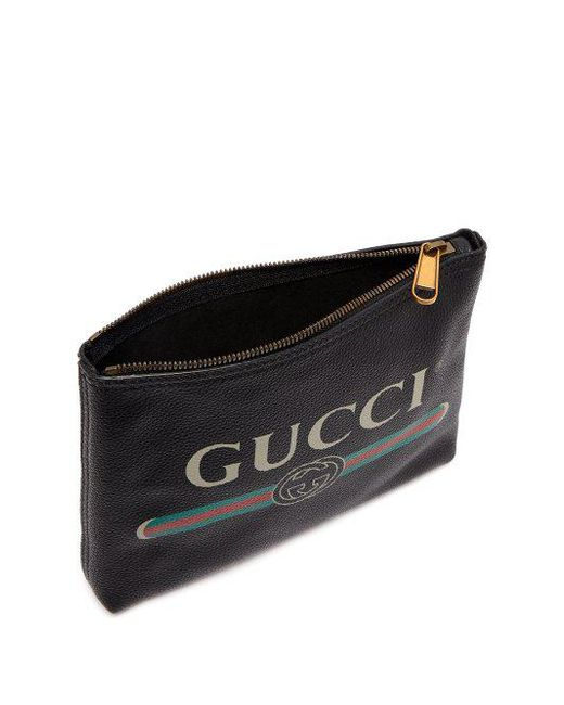 Logo-print small leather pouch Gucci 88JvDXQ