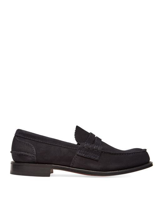 Church's | Blue Pembrey Suede Loafers for Men | Lyst