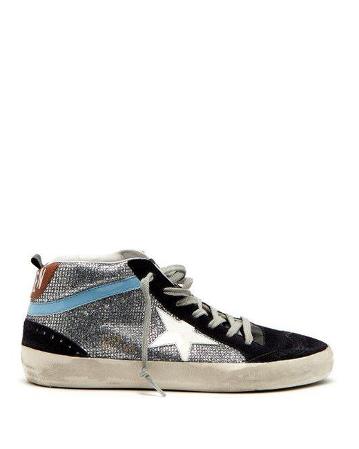 Golden Goose Deluxe Brand - Multicolor Midstar Glitter And Suede Trainers - Lyst