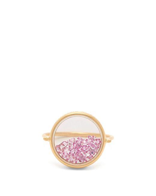 Aurelie Bidermann - Pink Chivor Sapphire & 18kt Gold Ring - Lyst