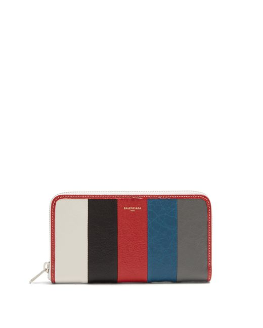 Balenciaga - Multicolor Bazar Zip Around Leather Continental Wallet for Men - Lyst