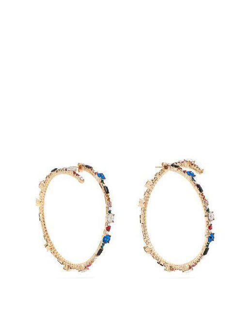 Crystal hoop earrings Valentino HphO2VVV