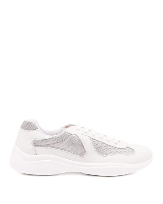 Prada - White New America's Cup Low Top Leather Trainers for Men - Lyst