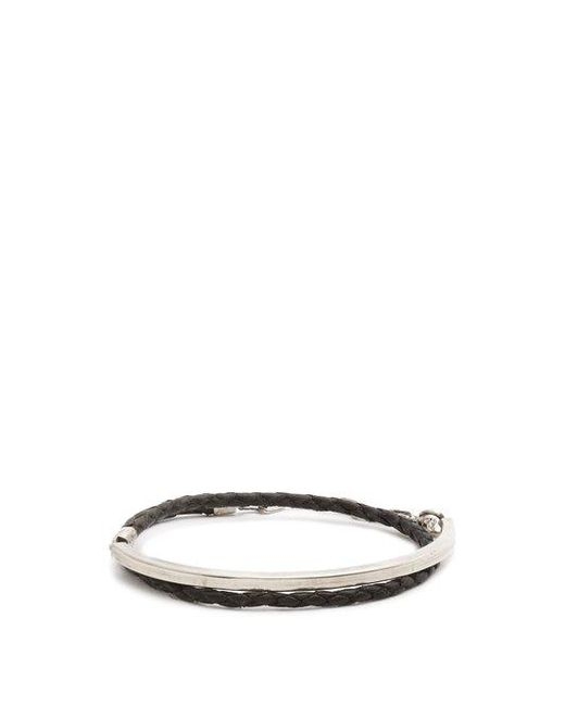 Title Of Work - Multicolor Leather And Sterling-silver Wraparound Bracelet for Men - Lyst