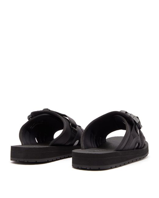 f369712a275c Lyst - Prada Buckle Open-toe Sandals in Black for Men - Save 48%