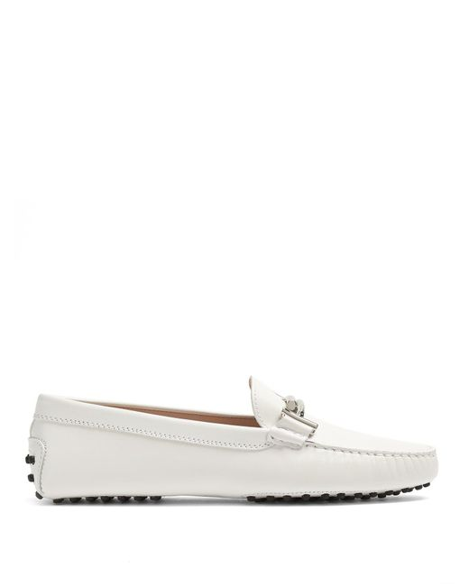 Tod's - Multicolor Gommini T-bar Leather Loafers - Lyst