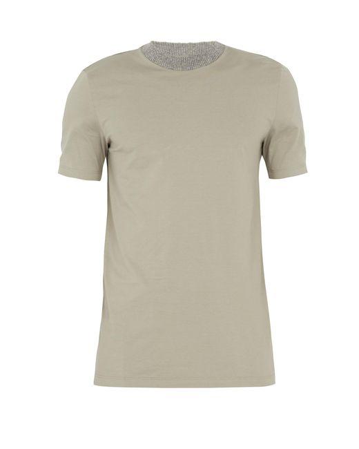 Maison Margiela | Multicolor Contrast-neckline Cotton T-shirt for Men | Lyst