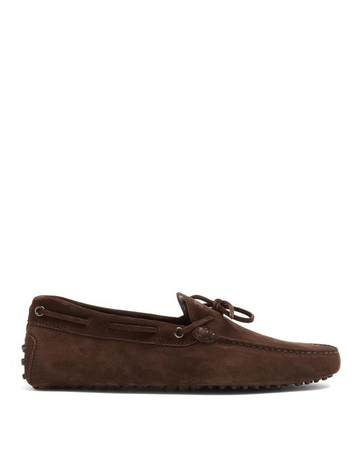 Tod's | Brown Gommino Suede Driving Loafers for Men | Lyst