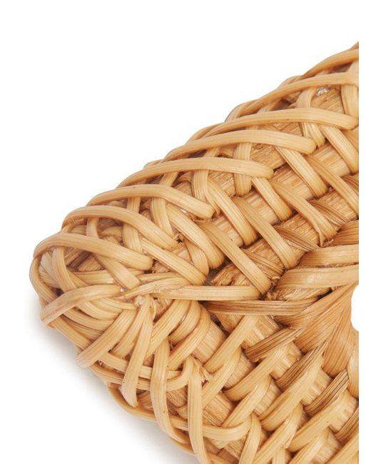 Cult Gaia Jane triangular woven-straw bangle T1OZFu4k