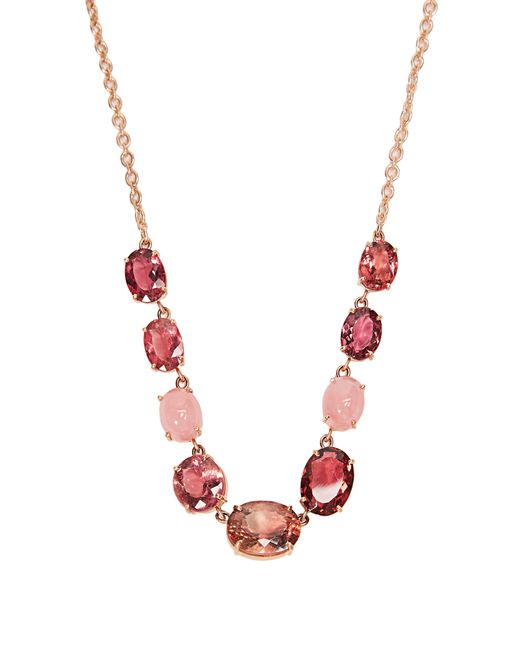 Irene Neuwirth - Pink Opal, Tourmaline & Rose-gold Necklace - Lyst
