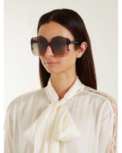 Gaia square-frame acetate sunglasses Dior nysvJkPQvO