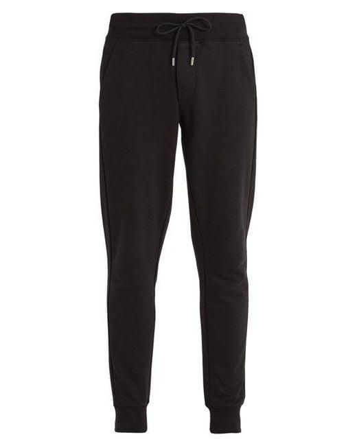 Moncler - Black Basic Tapered-leg Cotton Track Pants for Men - Lyst