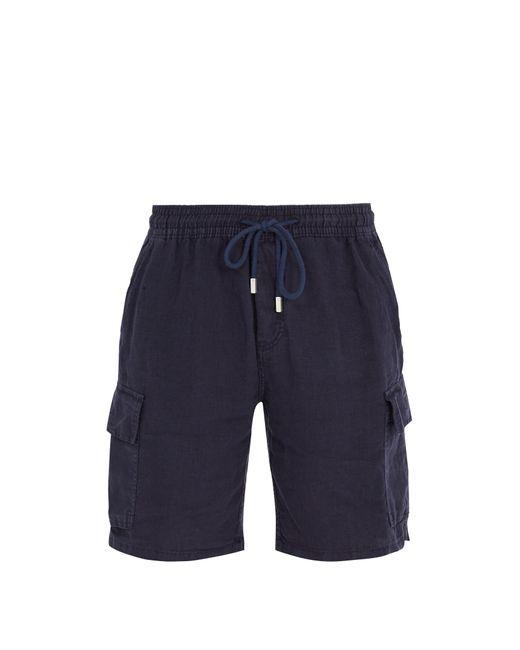 Vilebrequin | Blue Baie Drawstring Linen Shorts for Men | Lyst