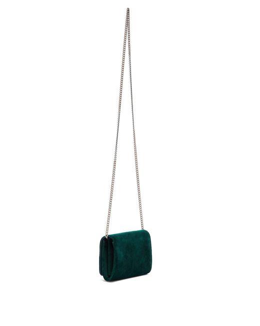 979c2e4c4f42 Lyst - Fendi Kan I Logo Velvet Cross Body Bag in Green - Save 33%