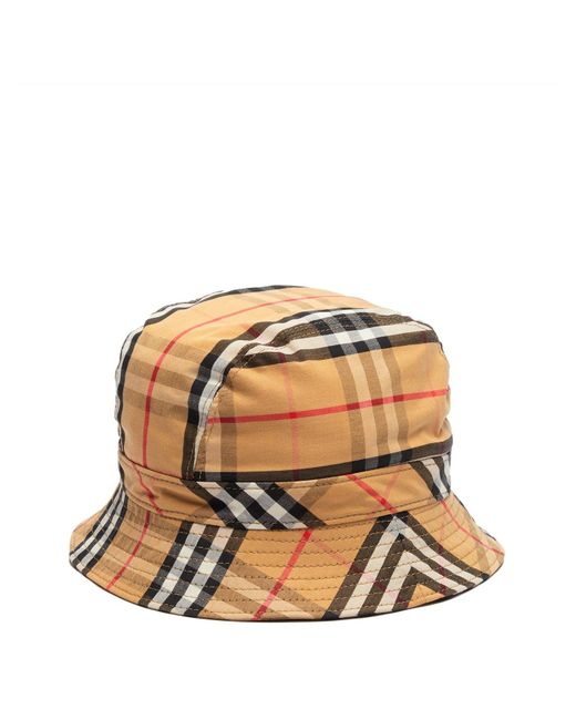 Burberry - Multicolor Vintage Check Cotton Bucket Hat for Men - Lyst ... 83dfbeb0ae7